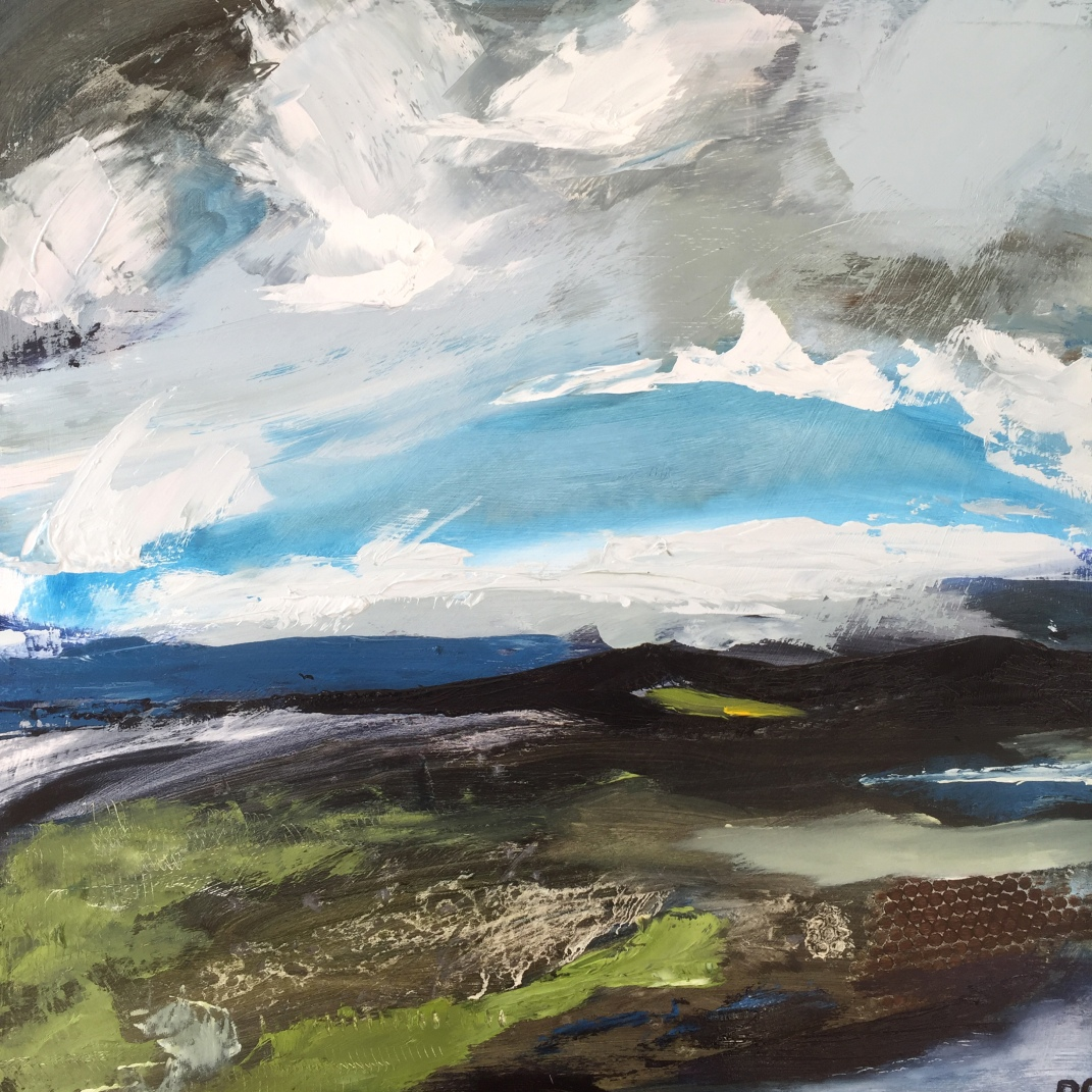 A glimmer of sun over the moor SOLD