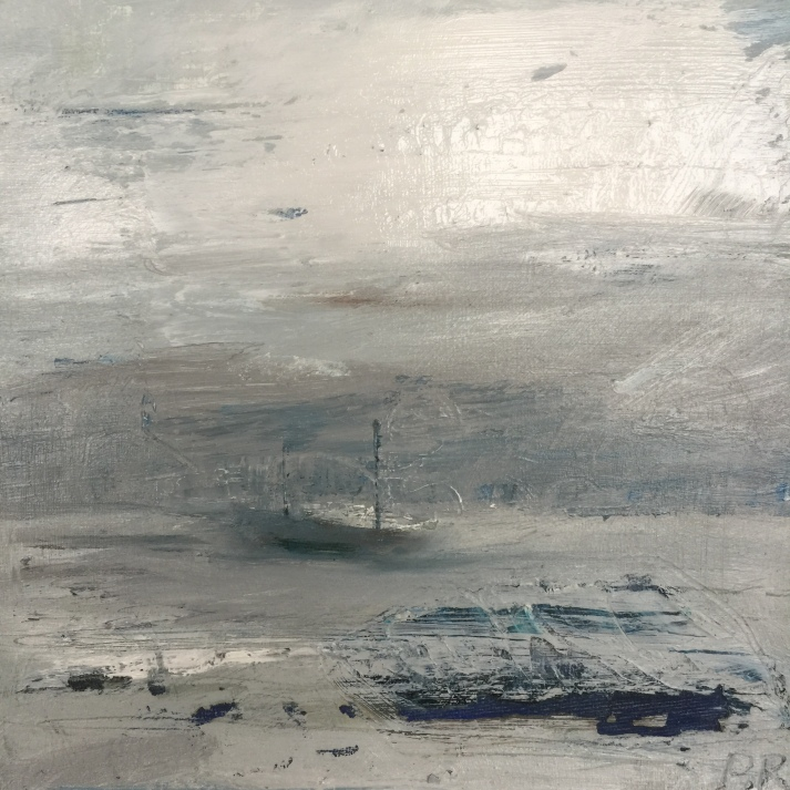 Ship in Foggy Harbour SOLD