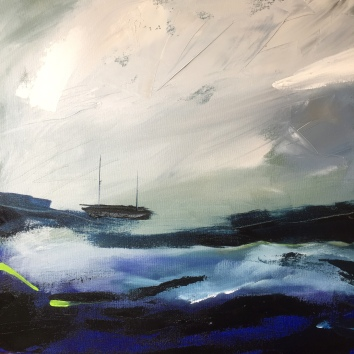 Boat in a Storm 50 x 50 cm