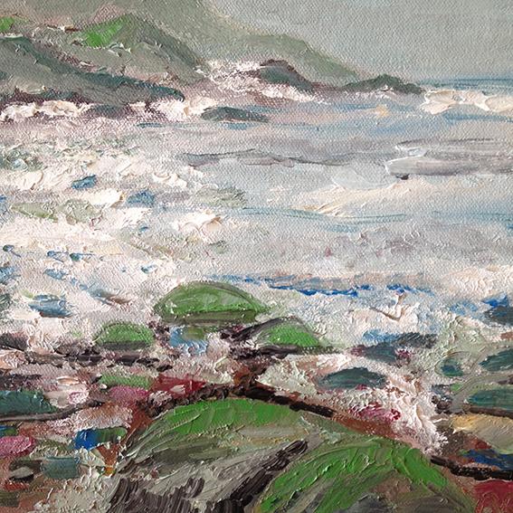 Rough Sea at Lantivet