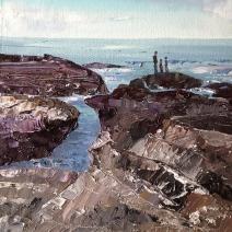 On the rocks at Lansallos SOLD