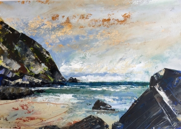 Feeling the warmth at Pustborough 357 x 255 mm SOLD