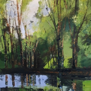 Happy Reflections 50 x 50 cm SOLD