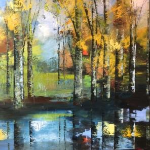 Autumn Glow 100 x 100 cm oil on canvas