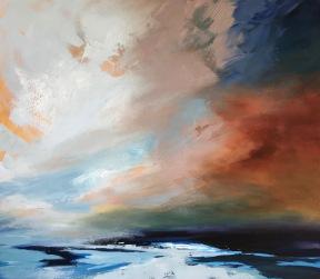 Big sky over Cornish Sea 70 x 80 cm SOLD