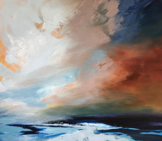 Big sky over Cornish Sea 70 x 80 cm SOLD