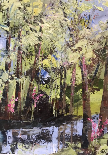Summer Reflections Oil on paper