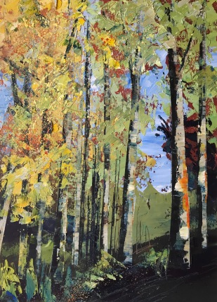 The first signs of Autumn oil on paper