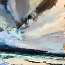 Watching the Cornish Sky 70 x 70 cm SOLD