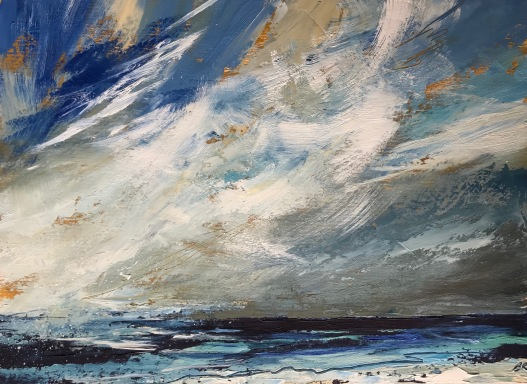 Windswept, Cornish sea