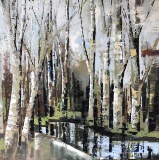 Winterland 100 x 100 cm
