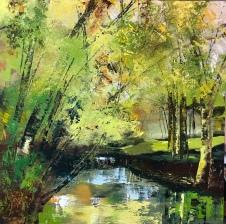 Early Autumn Walk 70 x 70 cm NEW