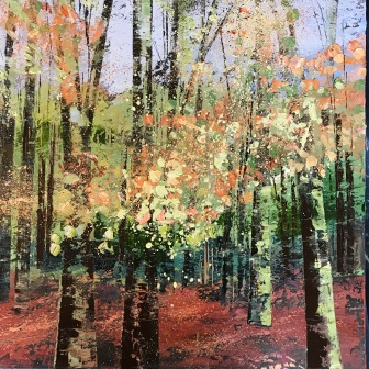 Watching the leaves fall 50 x 50 cm SOLD