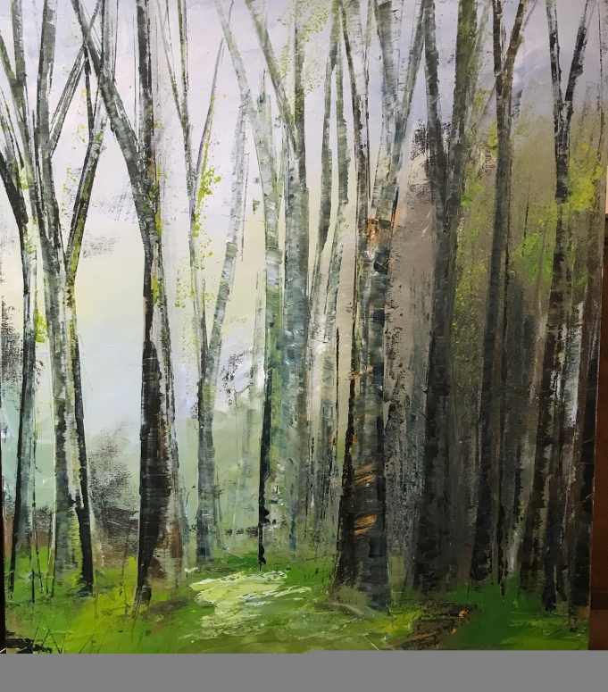 Into the Woods 60 x 70 cm