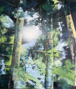 Light Through the Trees 60 x 70 cm