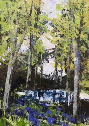 Looking forward to Spring oil on paper