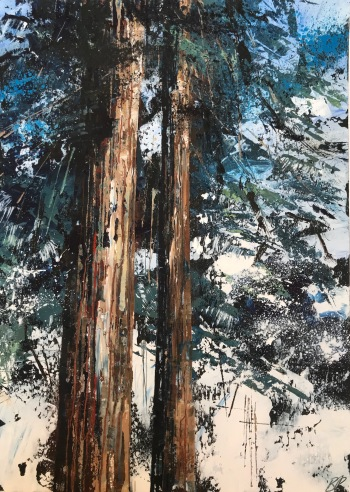 Cedar Trees 25 x 35 cm SOLD
