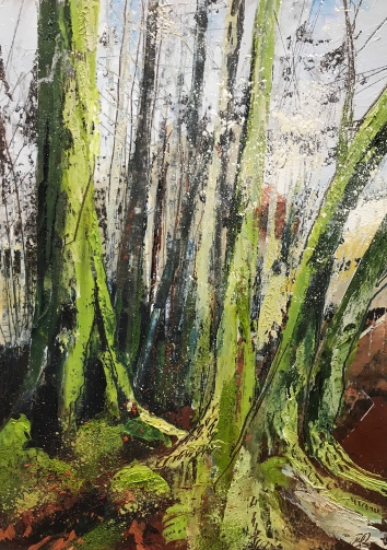 Lichen and Moss 25 x 35 cm oil on paper
