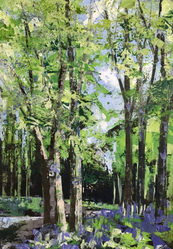 Path through the bluebells SOLD