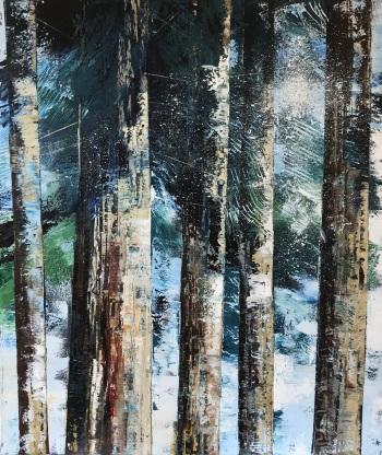Light through the Evergreens 60 x 70 cm NEW
