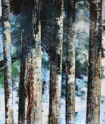 Light through the Evergreens 60 x 70 cm SOLD