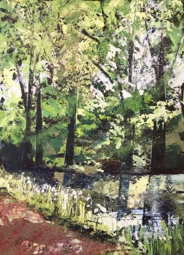 Flower Banks and Summer Light 25 x 35 cm oil on paper