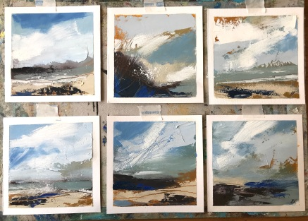 Abstract Seascapes Series 1 SOLD