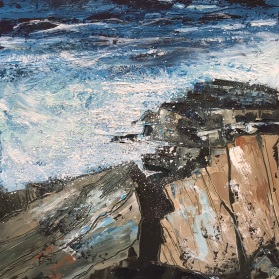Summer Swell 25 x 25 cm oil on paper SOLD