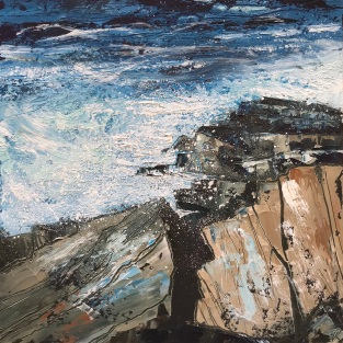 Summer Swell 25 x 25 cm oil on paper