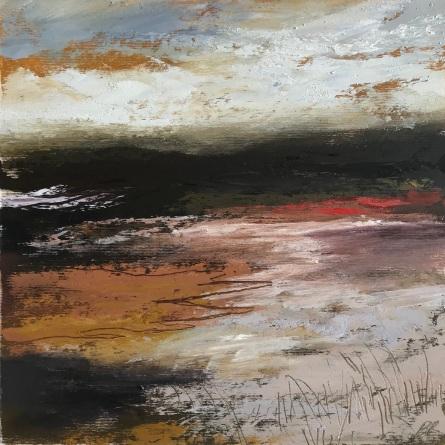 Moorland Walk 25 x 25 cm oil on paper