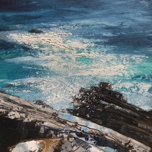 Deep Blue Sea, oil on paper 25 x 25 cm SOLD
