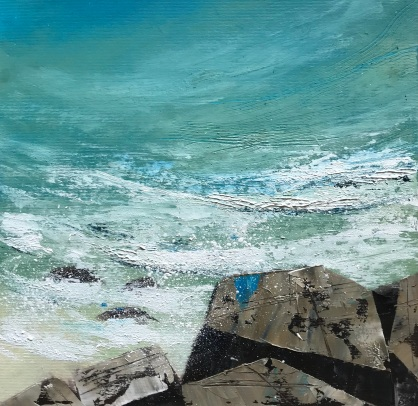 Happy Hum of the Sea oil on paper 25 x 25 cm SOLD