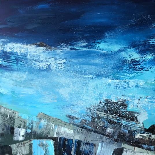 Deep Ocean Blue 50 x 50 cm oil on canvas SOLD