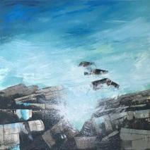Ocean Blue 50 x 50 cm oil on canvas Eastgate Gallery Totnes