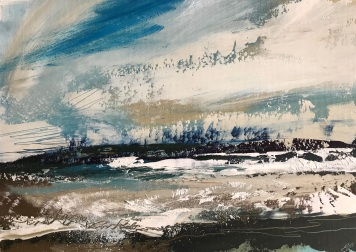 Surf Spray oil on paper 35 x 25 cm £120