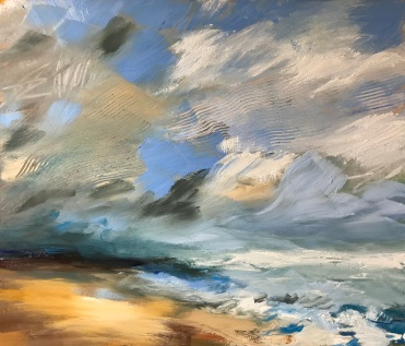 Last Day of Summer, oil on canvas 60 x 70 cm Triptych Gallery Seaton