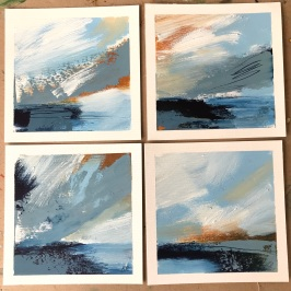 Abstract Seascapes Series 8 oil on paper 15 x 15 cm £150
