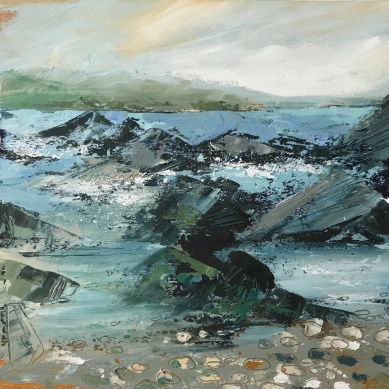 Rocky Bay, oil on paper 30 x 30 cm £150