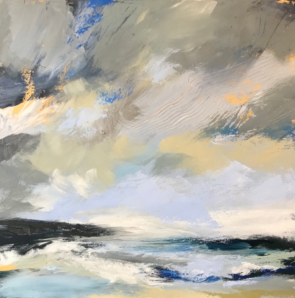 Salt and Surf 50 x 50 cm oil on canvas £490