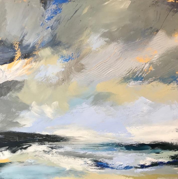 Salt and Surf 50 x 50 cm oil on canvas £490