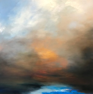 Light on the Horizon 80 x 80 cm oil on canvas £1490