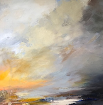 Warm Glow on a Cold Day 70 x 70 cm £840