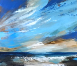 Blue Skies Above Me 80 x 70 x 4 cm oil on canvas £890
