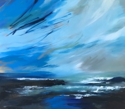 Blue Skies Ahead 80 x 70 x 4 cm oil on canvas £890