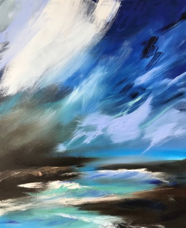 Left My Soul There 50 x 60 x 4 oil on canvas, ready to hang. £590