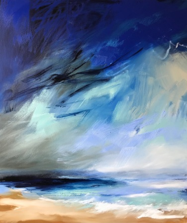Summer Blues 60 x 70 x 4 cm oil on canvas £790