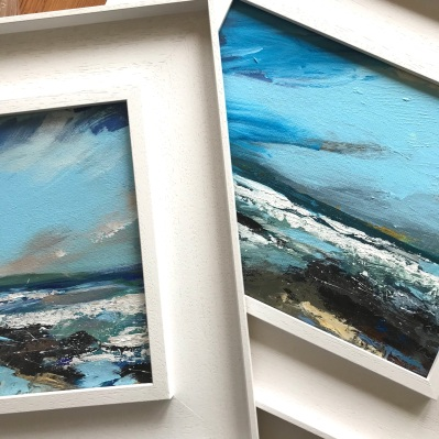 New framed plein air paintings